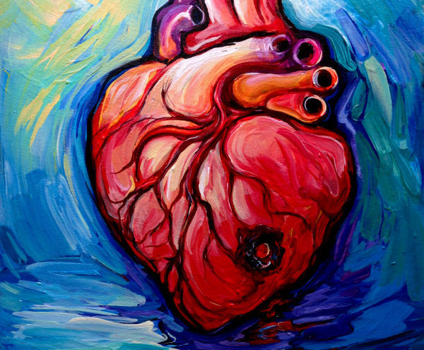 We all have one heart and it's a muscle, a pump. It has about as much resemblance to a Valentine's Day card as a person you love does to a chalk outline.