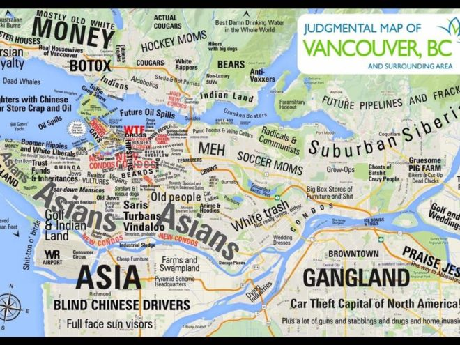 Judg(e)mental Map of Vancouver
